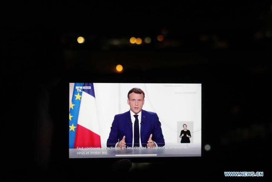 France S Macron Unveils Gradual Easing Of Lockdown Expecting New Stage Xinhua English News Cn