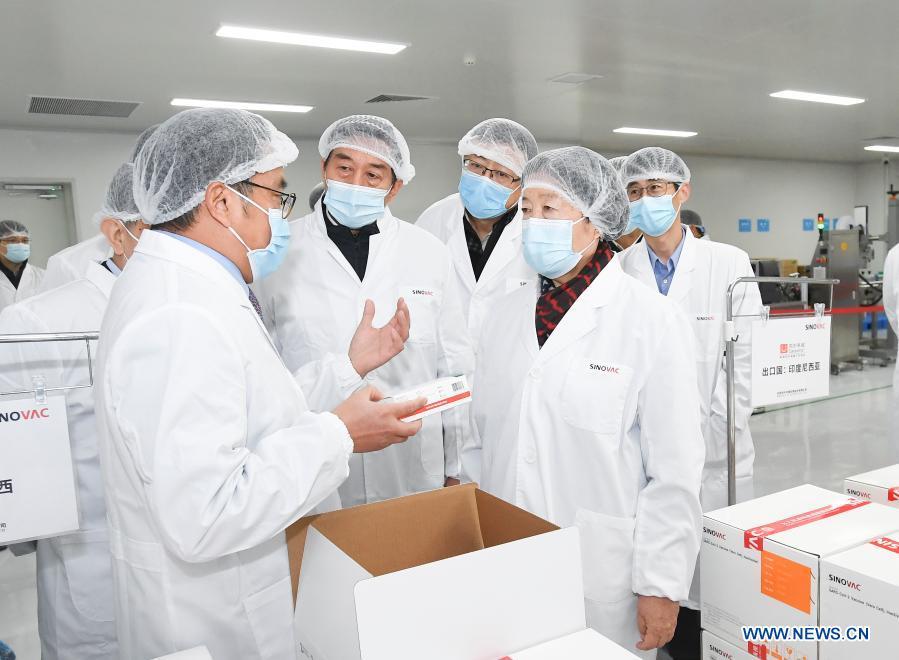 Chinese Vice Premier Underlines Progress In Covid 19 Vaccine Development Xinhua English News Cn