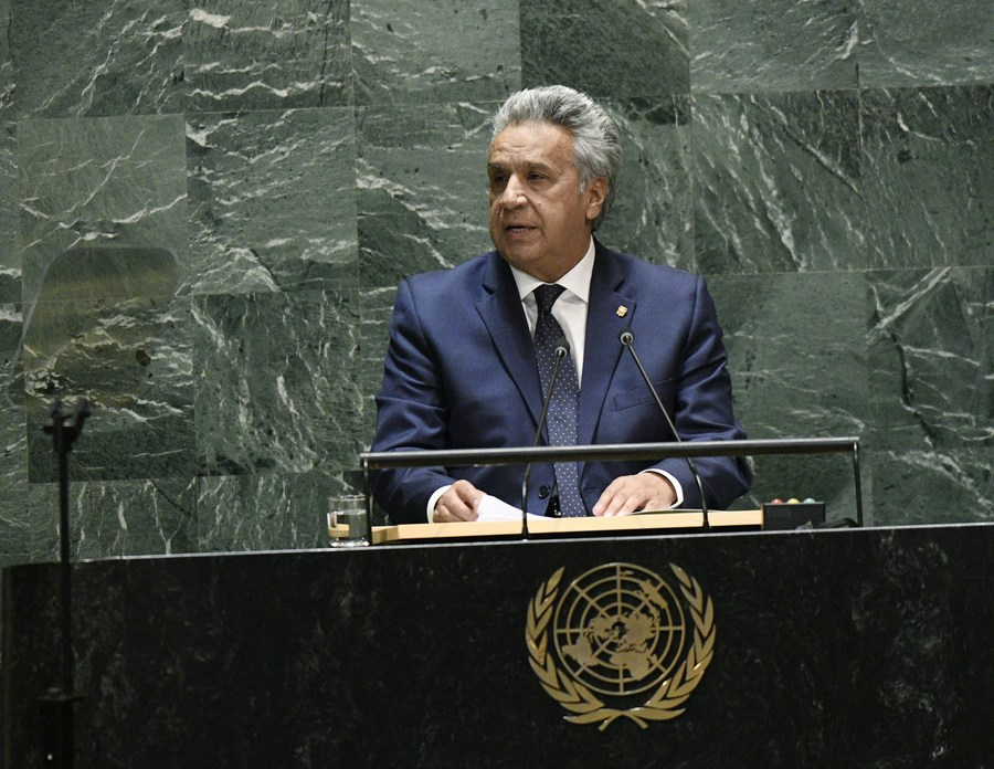 Ecuador's president calls on UN to bolster multilateralism amid pandemic - Xinhua | English.news.cn
