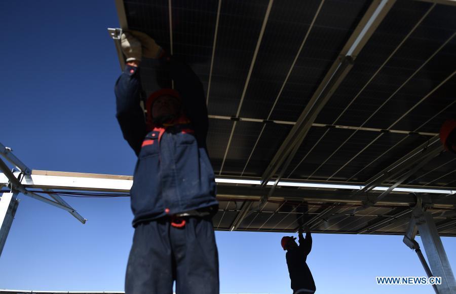 青海300兆瓦光伏发电项目安装太阳能机组
