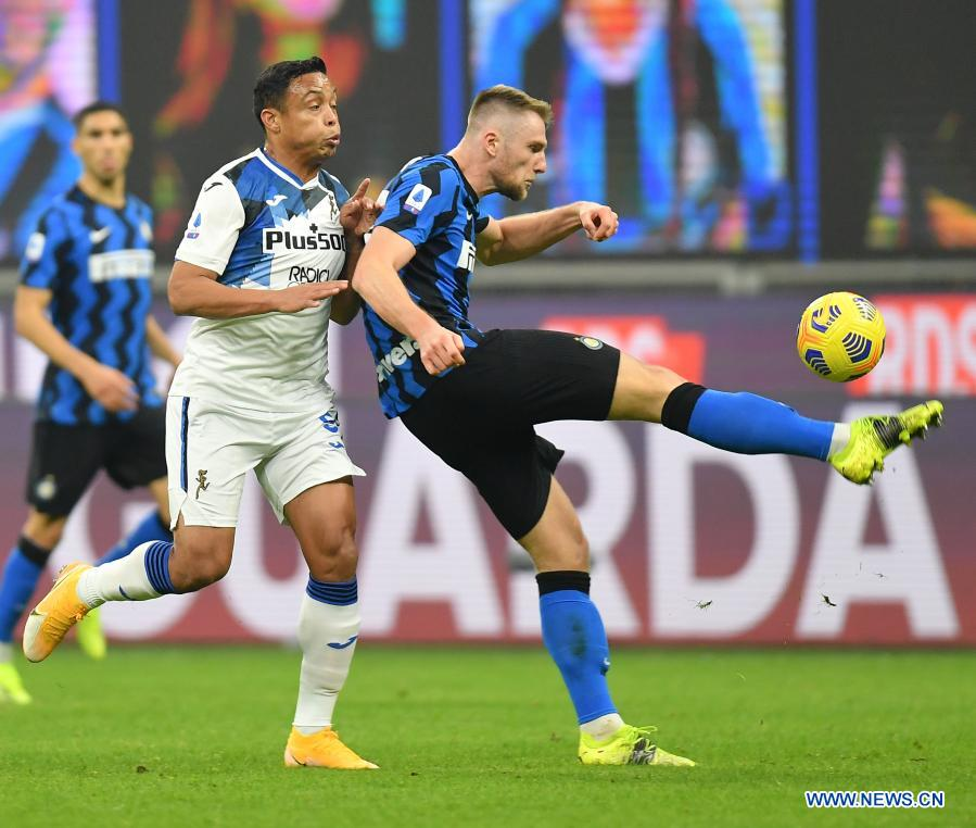 Inter continues winning streak in Serie A - Xinhua ...