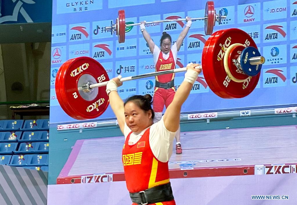 Zhang Wangli Claims Title at Women's 76kg Match at Asian Weightlifting Championships