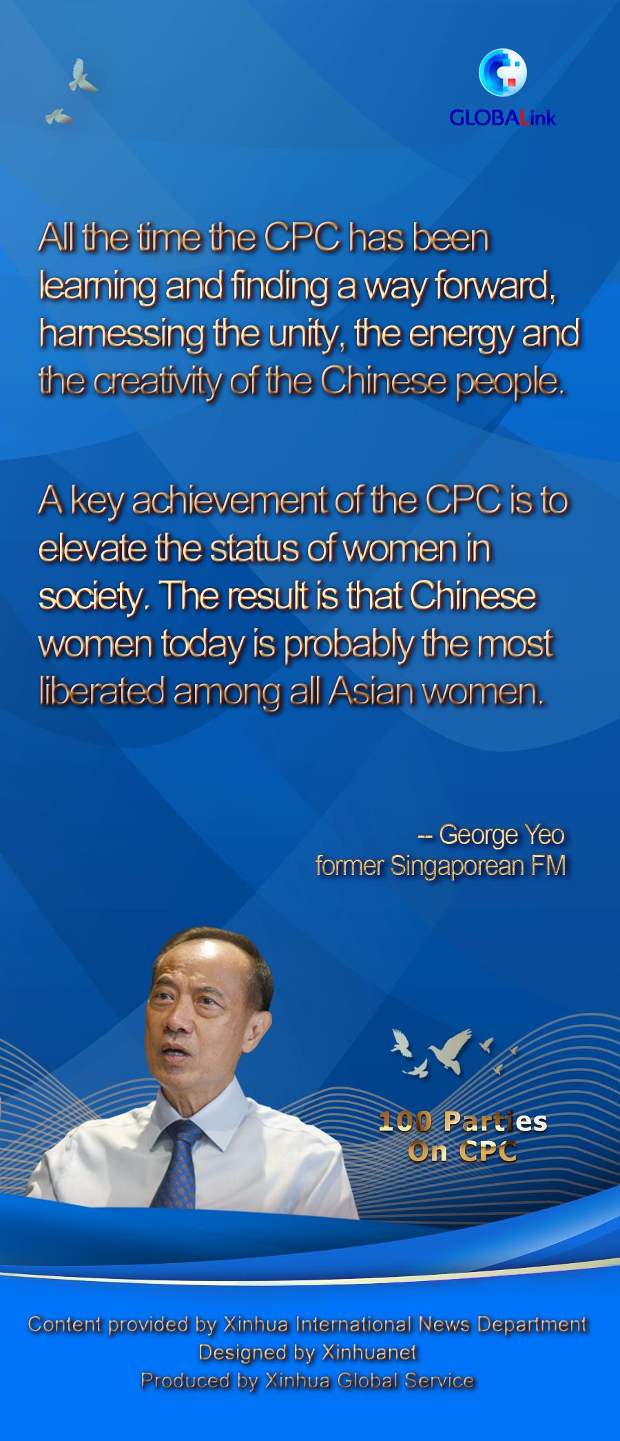 Interview: 100th anniversary of CPC a milestone in China's development -- former Singaporean FM - Xinhua | English.news.cn