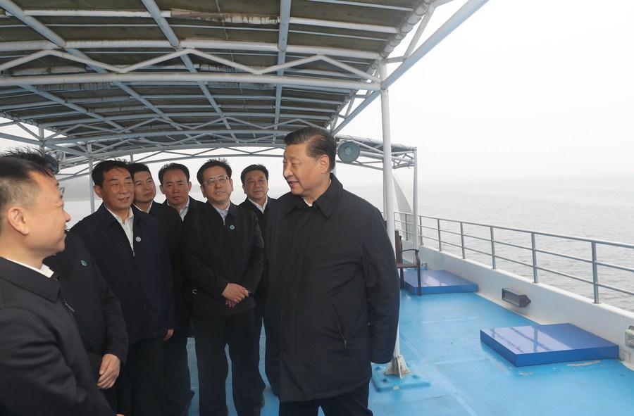 Xi Focus: China's water diversion project promotes green development - Xinhua | English.news.cn