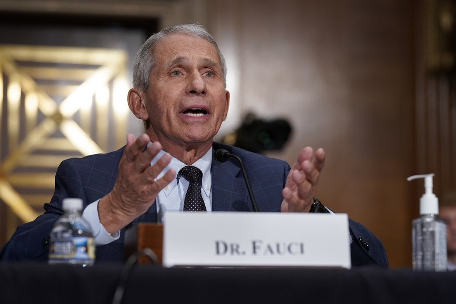 """Fauci praises """"qualified, highly respected Chinese scientists"""" - Xinhua   English.news.cn"""