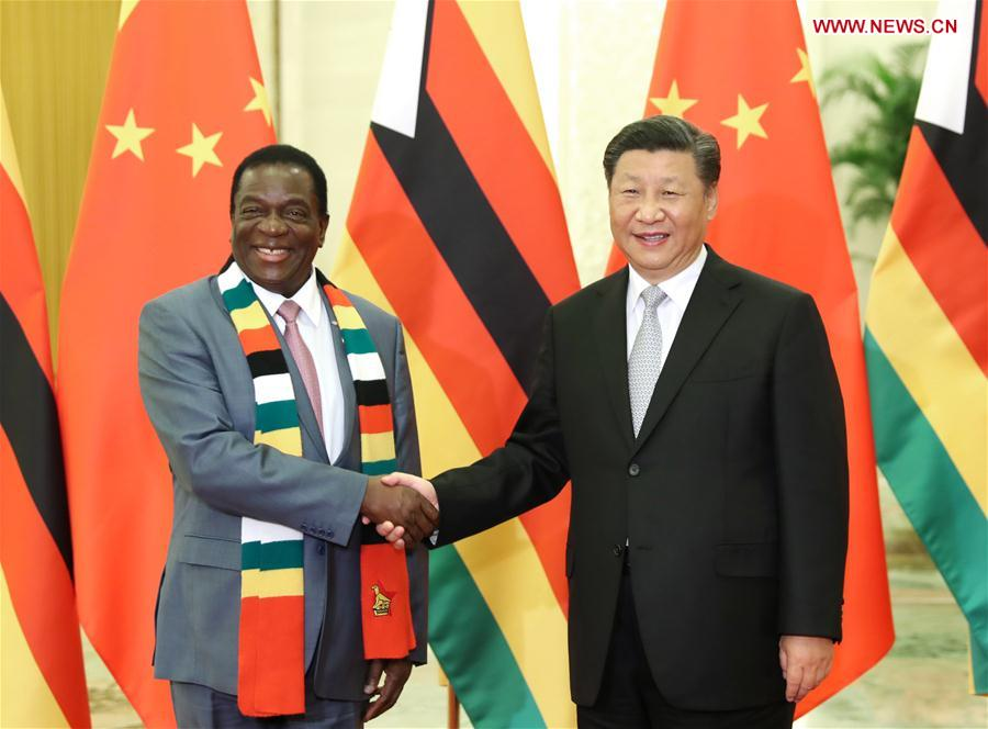 CHINA-BEIJING-XI JINPING-ZIMBABWEAN PRESIDENT-MEETING (CN)