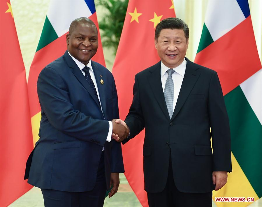 CHINA-BEIJING-XI JINPING-CENTRAL AFRICAN REPUBLIC PRESIDENT-MEETING (CN)