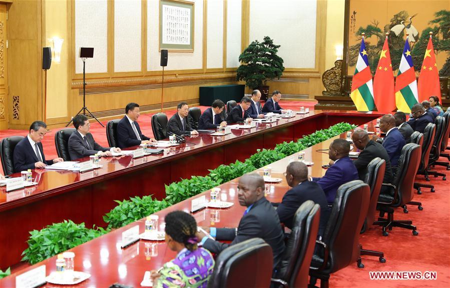 CHINA-BEIJING-XI JINPING-CENTRAL AFRICAN REPUBLIC PRESIDENT-MEETING (CN)