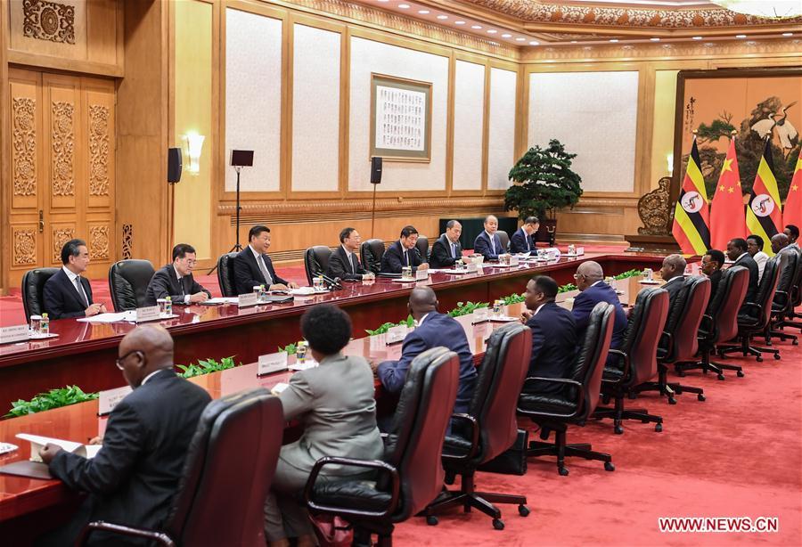 CHINA-BEIJING-XI JINPING-UGANDAN PRESIDENT-MEETING (CN)
