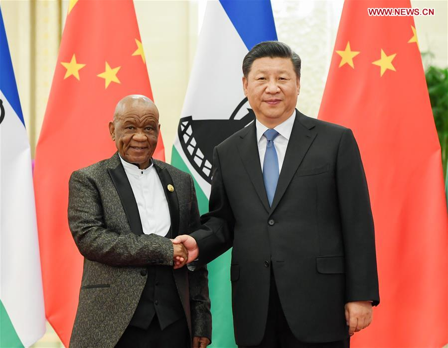 CHINA-BEIJING-XI JINPING-LESOTHO PM-MEETING (CN)