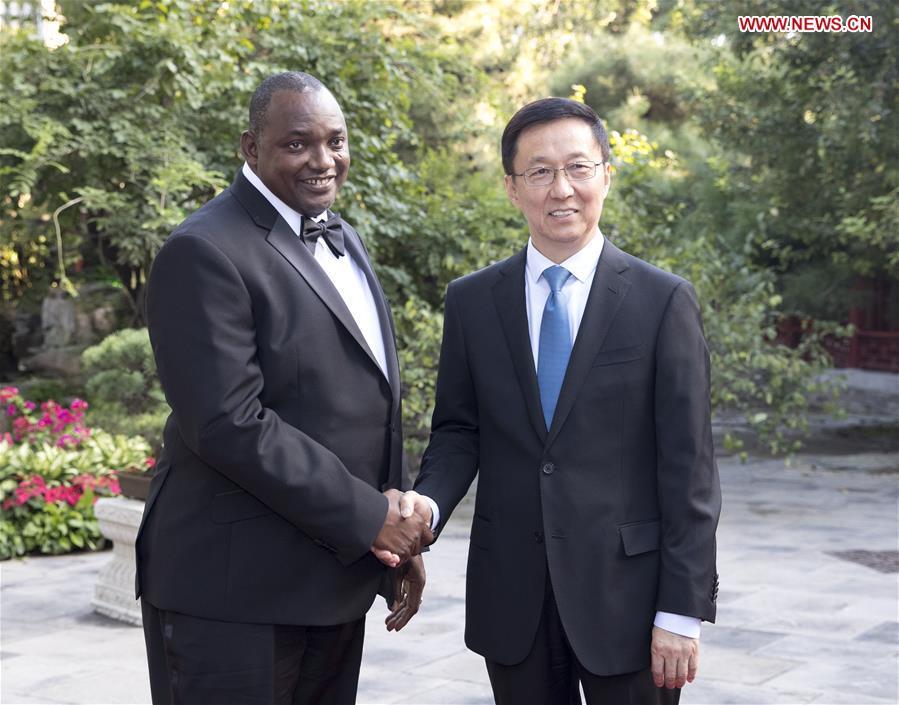 CHINA-BEIJING-HAN ZHENG-GAMBIAN PRESIDENT-MEETING (CN)