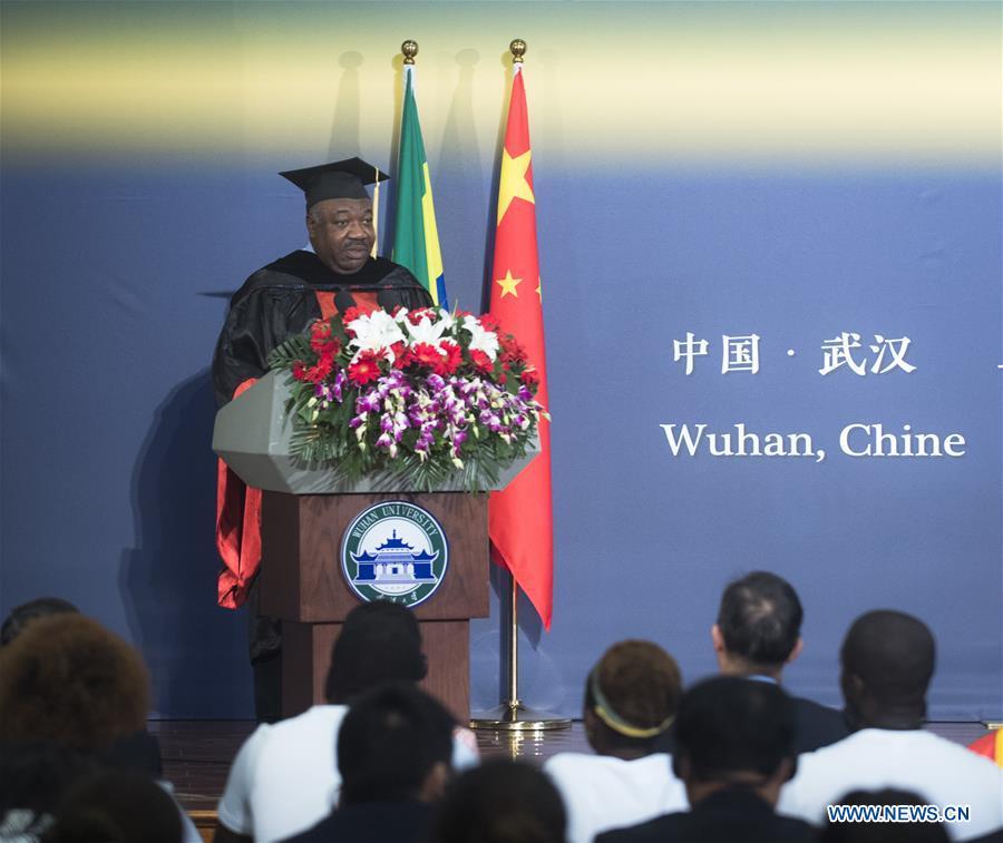 CHINA-HUBEI-WUHAN-GABON-PRESIDENT-UNIVERSITY-HONORARY DOCTORATE (CN)