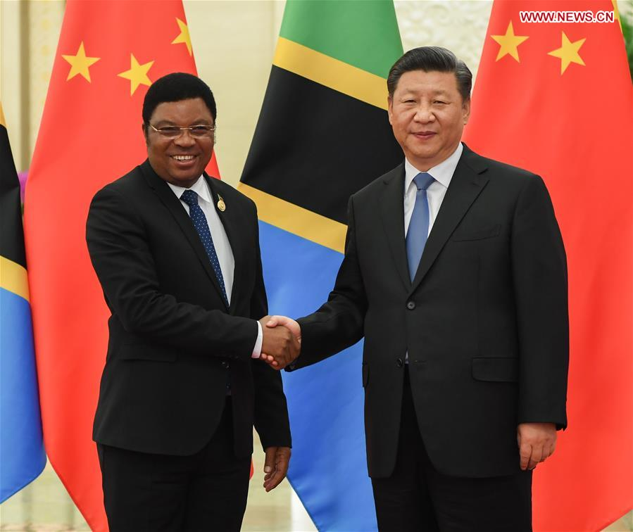 CHINA-BEIJING-XI JINPING-TANZANIAN PM-MEETING (CN)