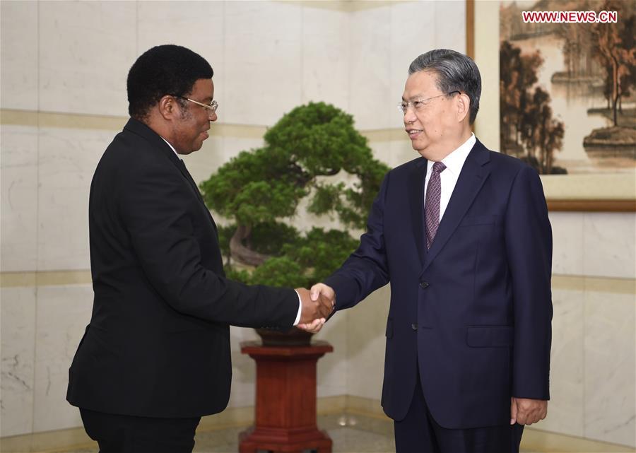 CHINA-BEIJING-ZHAO LEJI-TANZANIAN PM-MEETING (CN)