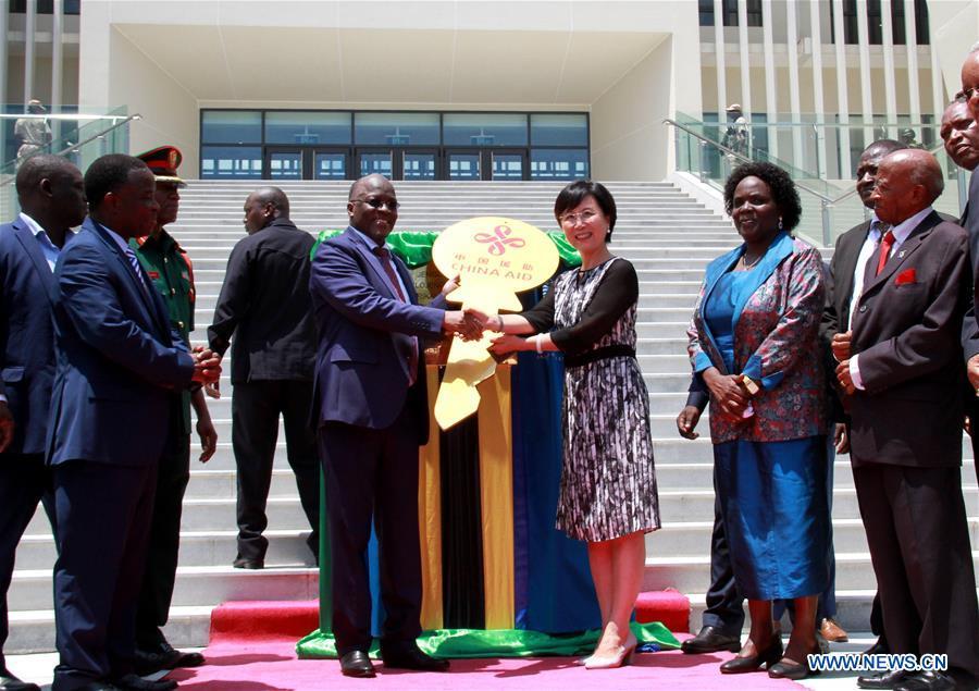 TANZANIA-DAR ES SALAAM-CHINA-AIDED LIBRARY-HANDOVER
