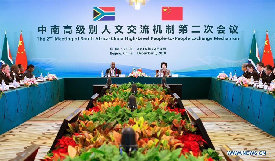 CHINA-BEIJING-SUN CHUNLAN-SOUTH AFRICA-EXCHANGE-PPEM-MEETING (CN)