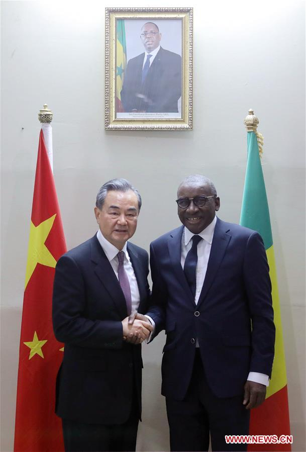 SENEGAL-DAKAR-CHINA-WANG YI-FM-TALKS