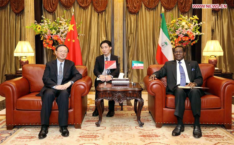 EQUATORIAL GUINEA-CHINA-YANG JIECHI-MEETING