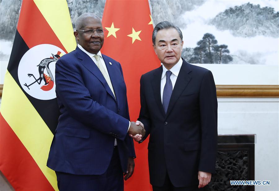 CHINA-BEIJING-WANGYI-UGANDA'S FM-MEETING (CN)