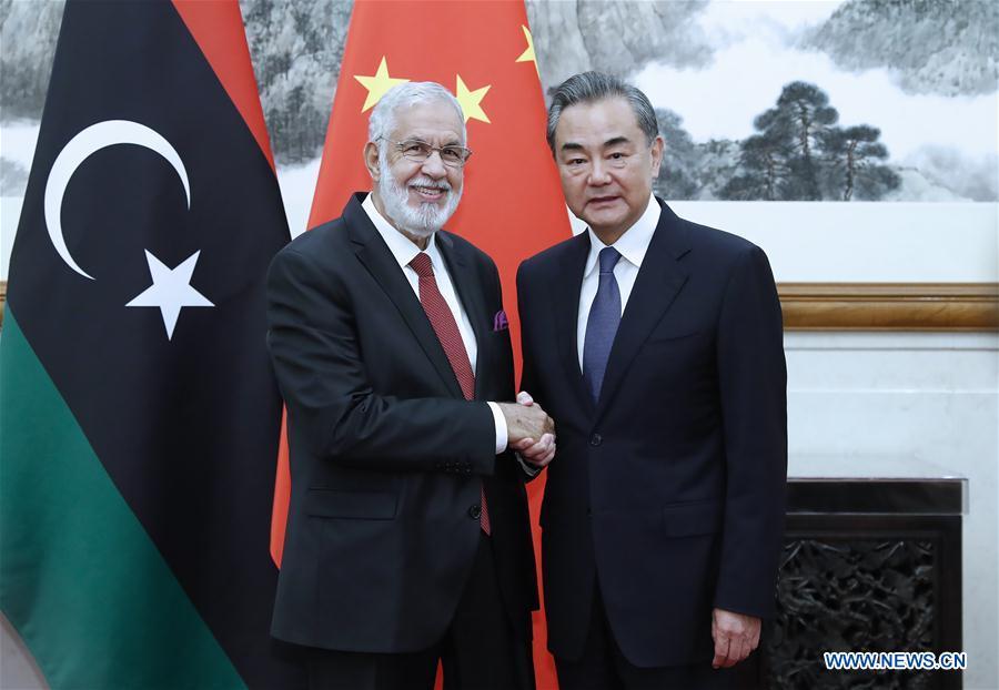 CHINA-BEIJING-WANGYI-LIBYA'S FM-MEETING (CN)