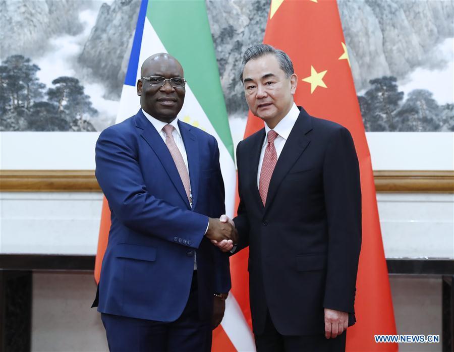 CHINA-BEIJING-WANG YI-EQUATORIAL GUINEA'S FM-MEETING (CN)