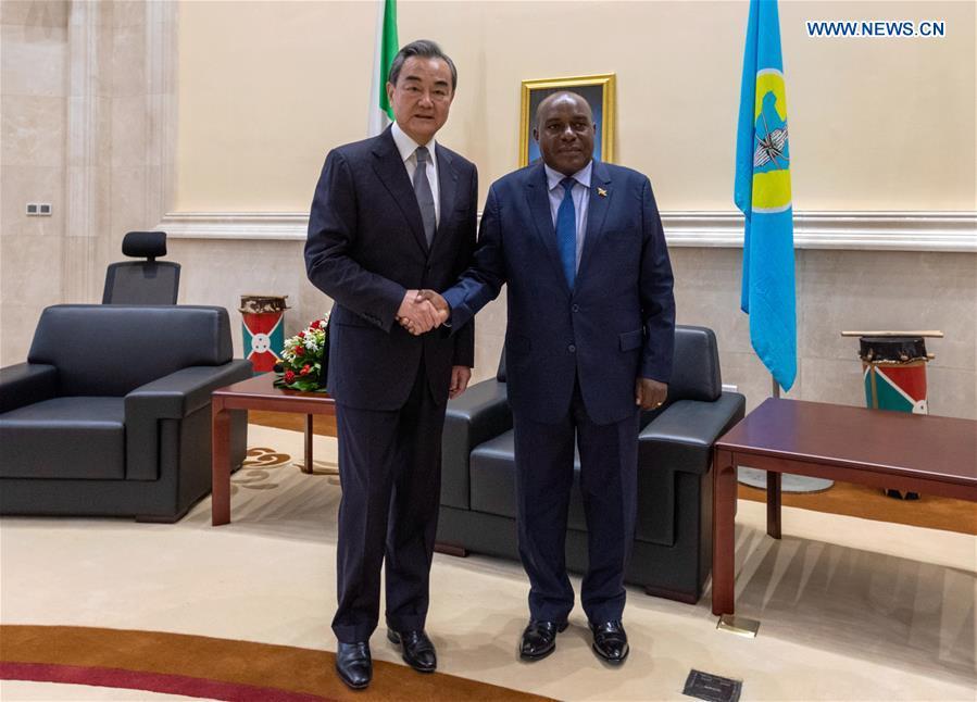 BURUNDI-BUJUMBURA-SECOND VICE-PRESIDENT-CHINA-WANG YI-MEETING