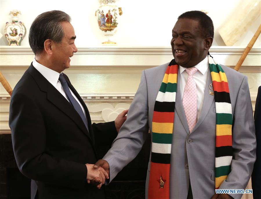ZIMBABWE-HARARE-PRESIDENT-CHINA-WANG YI-MEETING