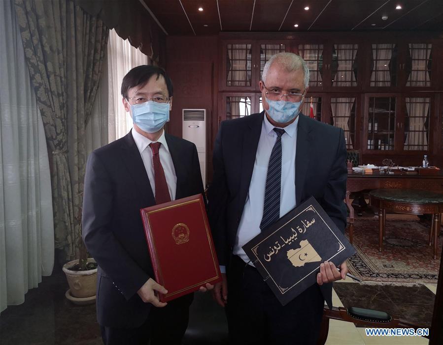 TUNISIA-TUNIS-COVID-19-LIBYA-CHINA-MEDICAL AID