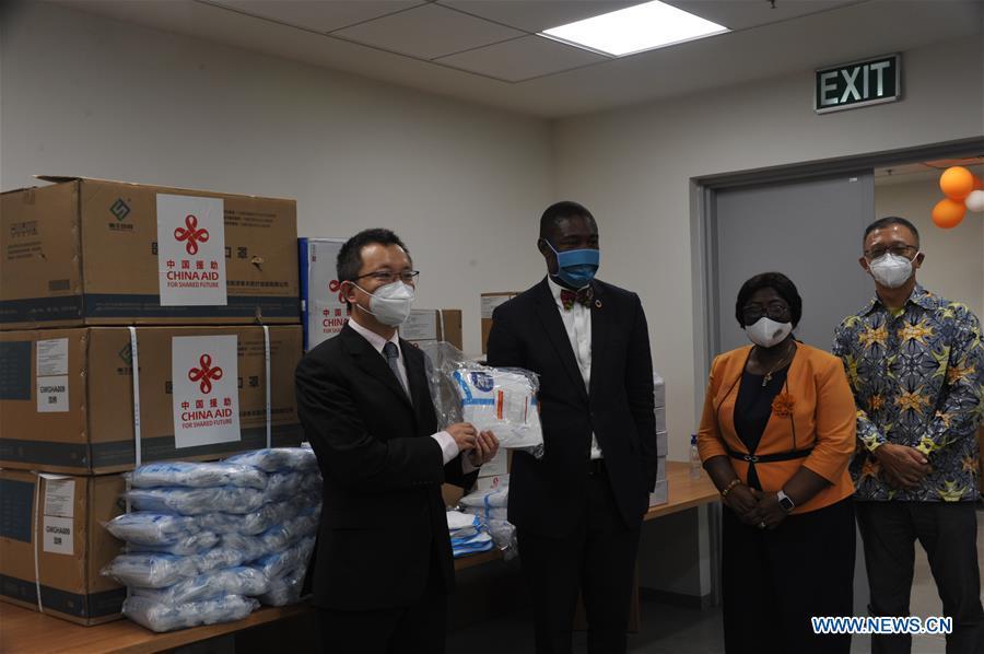 GHANA-ACCRA-CHINA-MEDICAL SUPPLIES-DONATION