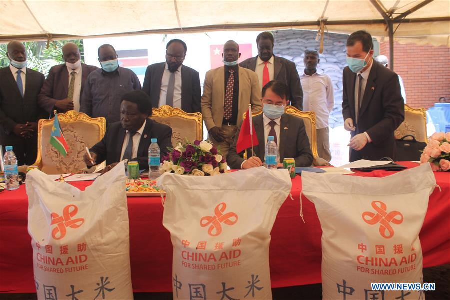 SOUTH SUDAN-JUBA-CHINA-RICE-DONATION
