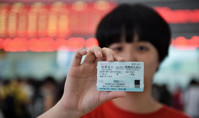 Guangzhou-Shenzhen-Hong Kong high-speed railway ticket pre-sale starts