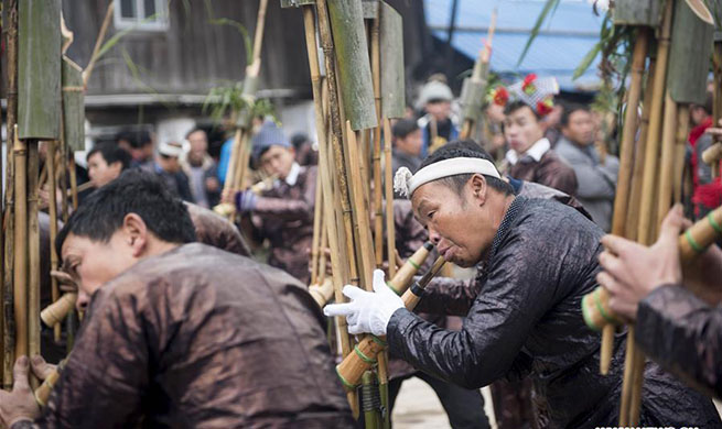 Local Miao people in China's Guizhou celebrate their traditional New Year in various ways