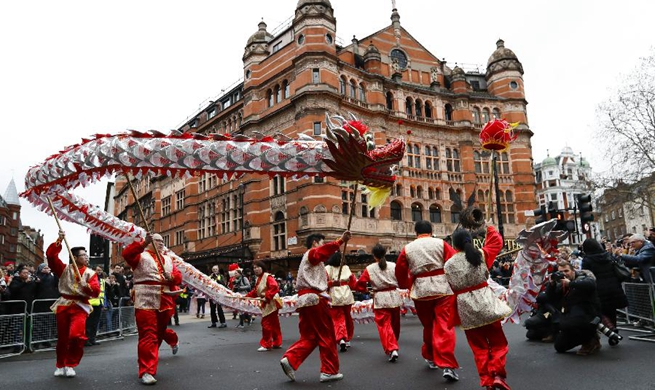 Feature: Grand Chinese New Year celebration held in London
