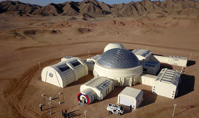 Simulated Mars base opens in NW China's Gansu