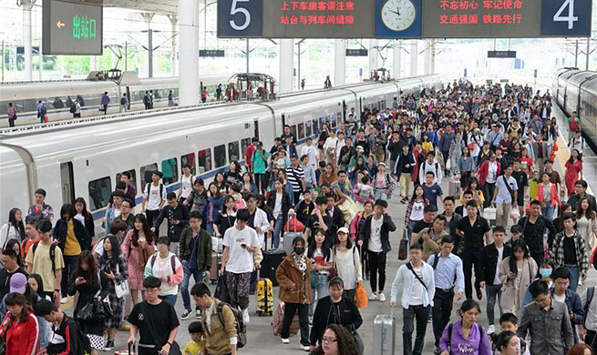 Railway system witnesses travel rush as Labor Day holiday ends