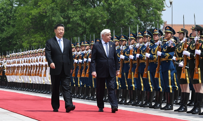 Xi holds talks with Greek president