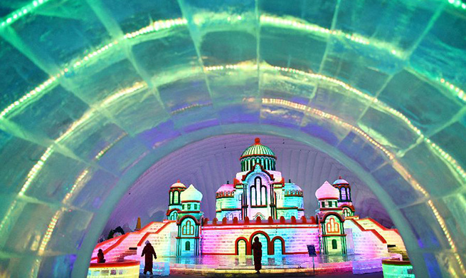 In pics: indoor ice-snow theme park at Harbin Ice-Snow World in China's Heilongjiang