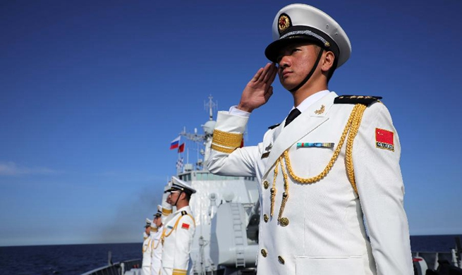 Chinese missile destroyer partakes in Russian naval parade