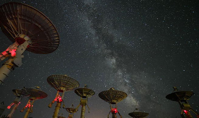 Starry night over Ming'antu observing station in Inner Mongolia