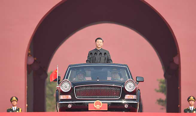 Xi Focus: President Xi reviews armed forces on National Day for first time