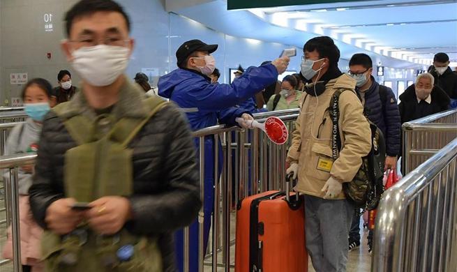 Nanchang Railway Station intensifies preventive measures to curb novel coronavirus epidemic