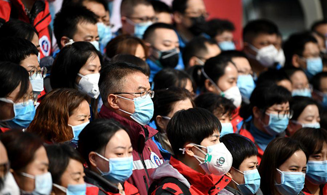Medical team from Xi'an leaves for Hubei to aid novel coronavirus control efforts