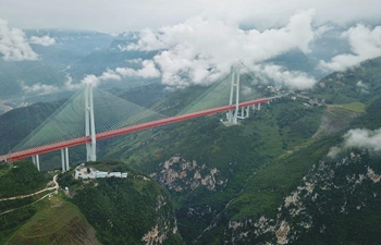 Breathtaking view of Beipanjiang Bridge in southwest China