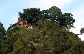 Hindu women offer prayers to Lord Shiva in Nepal