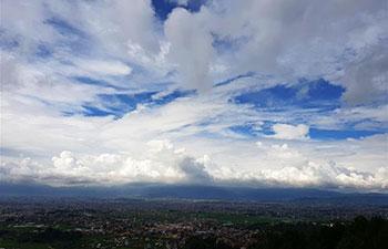 Monsoon clouds over Kathmandu valley