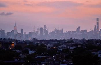 Manhattan skyline seen from Arthur Ashe Stadium in New York City, U.S.