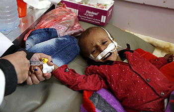 Malnourished children get treatment at hospital in Yemen