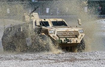 Ground military equipments displayed during Airshow China in Zhuhai