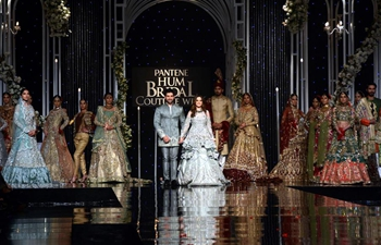 Creations presented on Bridal Couture Week in E Pakistan's Lahore