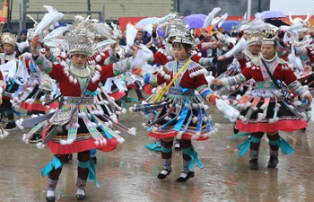 Miao people celebrate traditional New Year in China's Guangxi